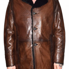 Cojoc barbati, din blana naturala, marca Kurban, culoare maro, marimea XL - Geaca barbati Kurban, Piele
