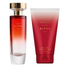 Set Femei - Alpha - Parfum 50 ml, Lotiune de corp 150 ml - Avon - NOU - Set parfum