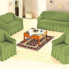 Set huse canapele si fotolii 3.2.1.1. - Verde - Husa pat