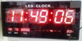 Ceas Electronic Perete cu Afisaj Digital LED 48x22cm / Termometru, Calendar