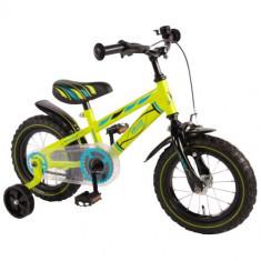 Bicicleta cu Roti Ajutatoare Yipeeh Electric Green 12 inch - Bicicleta copii