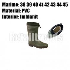 Cizme Imblanite Guma Cauciuc Santier Lucru Protectie Vanator 43 - NOU