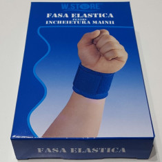 Fasa elastica incheietura mainii, universala, culoare albastra, set de 2 bucati