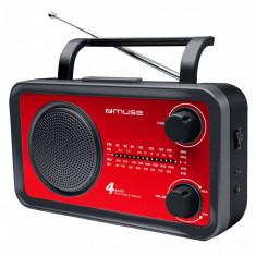 Radio portabil MUSE M-05 RED Rosu - Aparat radio