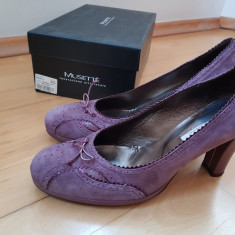 Pantofi Musette nr. 39-40 - Pantof dama, Culoare: Violet, Marime: 39 1/3, Cu toc