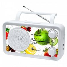 Radio portabil MUSE M-05 VF Alb - Aparat radio