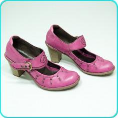 DE FIRMA → Pantofi / sandale dama, din piele, TAMARIS → femei | nr. 38 - Pantof dama Tamaris, Culoare: Roz, Piele naturala, Cu toc