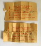 Lot 2 bilete vechi din 1989 la Circul Globus Bucuresti Turneul Coliseum