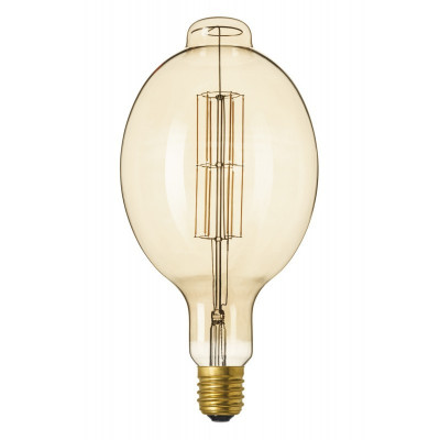 XXL E40 11W 240V Calex Colosseum LED Gold sticlă L foto