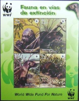 PERU - WWF NUTRII, 2000,  4 V  IN  M/SH,  NEOB. -  E6250 foto