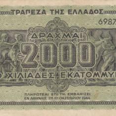 GRECIA 2.000.000.000 drahme 1944 VF!!! - bancnota europa