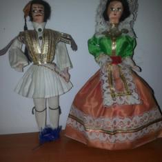 Pereche papusa de colectie  in costum traditional popular