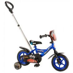 Bicicleta cu Maner si Roti Ajutatoare Yipeeh Power 10 inch - Bicicleta copii
