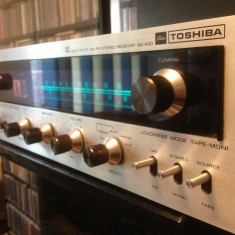 Amplificator/Tuner - Rar/Solid State - TOSHIBA SA-400  - Vintage/Impecabil/JAPAN, 41-80W