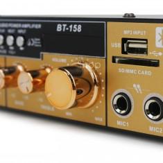 Amplificator cu Bluetooth 2x50w, Statie Amplificare BT-158 Telecomanda Radio - Amplificator audio