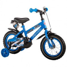 Bicicleta cu Roti Ajutatoare Yipeeh Super Blue 12 inch - Bicicleta copii