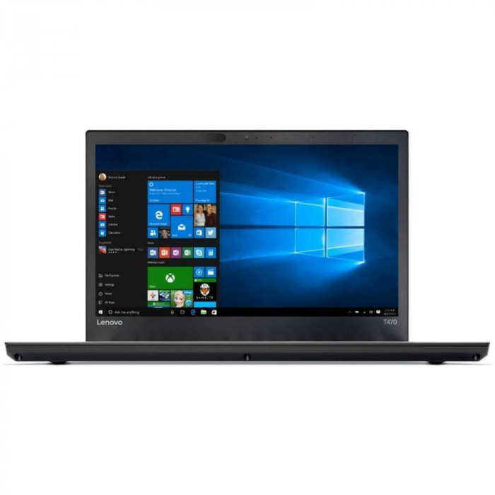 Laptop Lenovo ThinkPad T470 14 inch Full HD Touch Intel Core i7-7500U 16GB DDR4 512GB SSD 4G FPR Windows 10 Pro Black foto mare