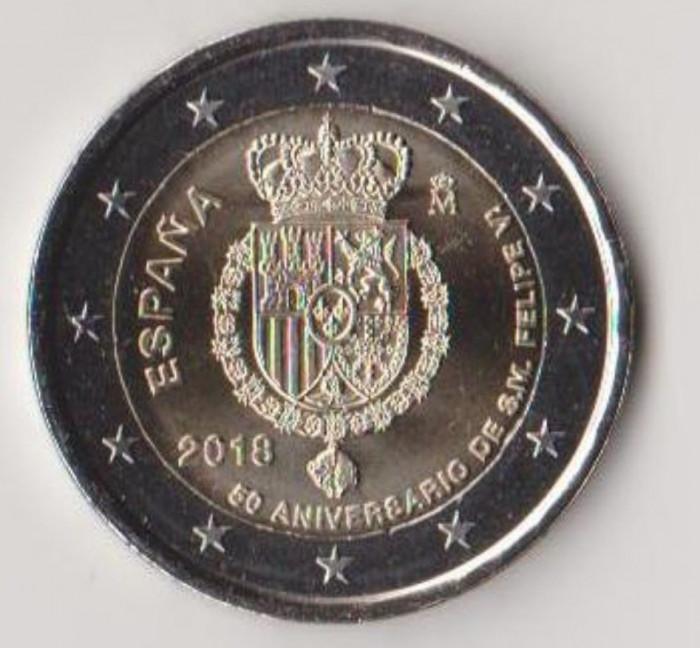 moneda de 2 euro comemorativa SPANIA 2018_Filip VI - UNC