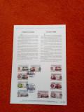 ROMANIA (CF 004) - L.P. 1842 - TRAMVAIE ELECTRICE - carton filatelic