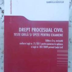 Drept Procesual Civil. Teste Grila Si Spete Pentru Examene - Gabriel Boroi, Gabriela Raducan, 413202 - Carte Drept penal