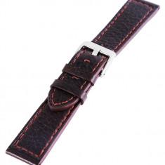 Curea din piele pentru ceas, maro, 20mm latime - Curea ceas piele
