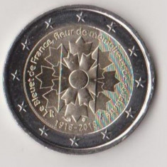 Moneda 2 euro comemorativa FRANTA 2018 - Bluet, UNC, Europa, Cupru-Nichel