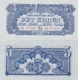 SPECIMEN CEHOSLOVACIA 5 korun 1944 UNC!!!