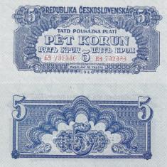 SPECIMEN CEHOSLOVACIA 5 korun 1944 UNC!!! - bancnota europa