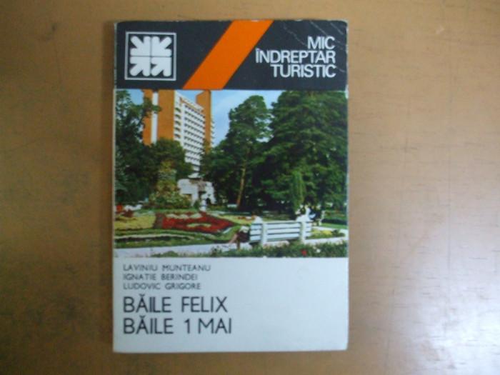 Baile Felix Baile 1 Mai Indreptar Turistic Bucuresti 1979 Harta