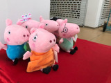 Peppa pig set 6 porcusori din plus 15 cm