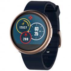 Smartwatch Mykronoz ZeRound 2 Roz Auriu si curea Albastra