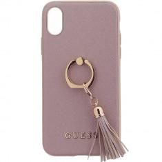 Husa Protectie Spate Guess GUHCPXRSSARG Cu Inel Roz pentru APPLE iPhone X - Husa Telefon