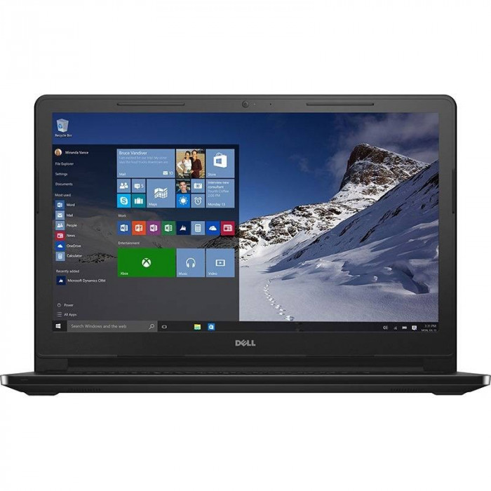 Laptop Dell Inspiron 3552 15.6 inch HD Intel Pentium N3710 4GB DDR3 500GB HDD BGN Windows 10 Home Black foto mare