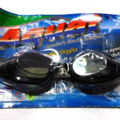 Set echipament inot, ochelari sport, negri, dopuri, suport silicon urechi - Ochelari Inot