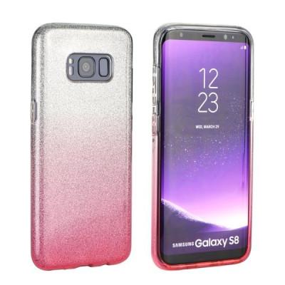 Husa Huawei Y6 2017 Forcell Shining Roz Transparenta foto