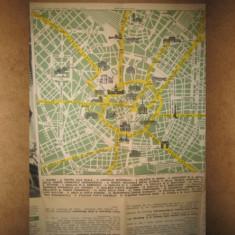 Harta veche vintage Milano stare buna.