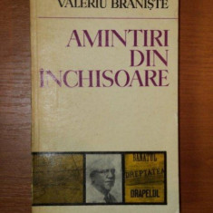 AMINTIRI DIN INCHISOARE de VALERIU BRANISTE - Carte Istorie