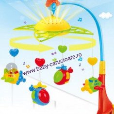 Carusel muzical cu proiecție Fairyland Plane - Carusel patut