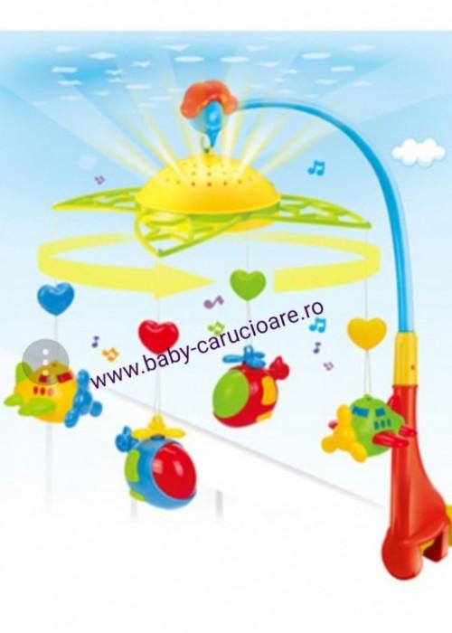 Carusel muzical cu proiecție Fairyland Plane