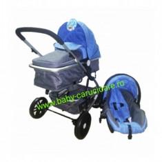 Cărucior nou născut 3 in 1 Baby Care YK 18-19 Albastru