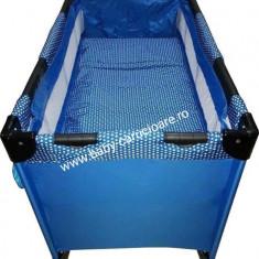 Patut- tarc nou născut 2in 1 Baby Care FMG Albastru