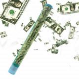 Tun confetti bancnote Dolari 58 cm - 20 lei