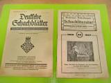 8113-I-2 Reviste Sah vechi Germania. Noembrie 1927 si 1 Aprilie 1940.