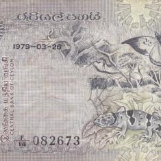 CEYLON/SRI LANKA 5 rupees 1979 VF!!! - bancnota asia