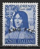 Trieste zona A 1949, Nestampilat