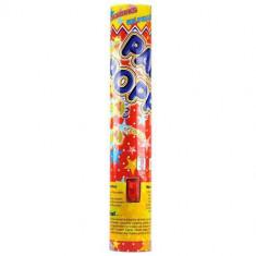 Tun confetii multicolore Party Popper 40 cm - 8 lei - Decoratiuni botez