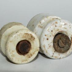 Buton ceramic, portelan  lot 2 bucati pentru mobila veche, taraneasca