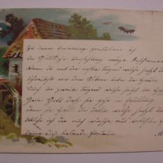 Carte postala circulata la Orsova in anul 1900 - Carte Postala Oltenia pana la 1904, Printata