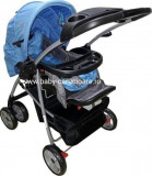 Cărucior nou născut 2 in 1 Baby Care M203 Albastru cu gri