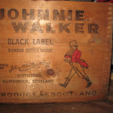RARE BOX whisky johnnie walker, BLACK LABEL ANI 50 - CM 34X27X28 + /.-